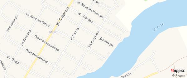 Улица Кутузова на карте Кусы с номерами домов
