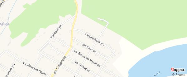 Юбилейная улица на карте Кусы с номерами домов