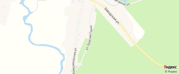 Улица Красная Горка на карте села Злоказово с номерами домов
