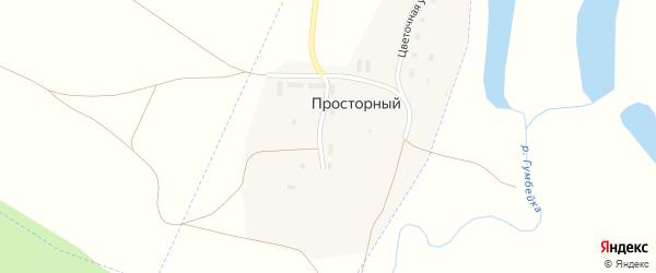Цветочная улица на карте Просторного поселка с номерами домов