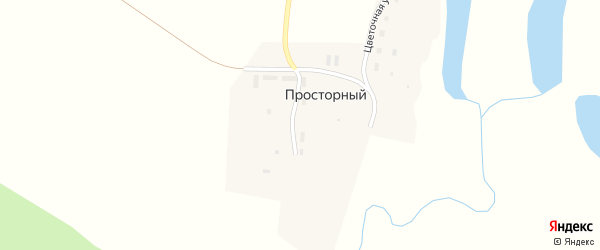 Просторная улица на карте Просторного поселка с номерами домов