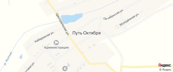 Школьная улица на карте поселка Пути Октября с номерами домов