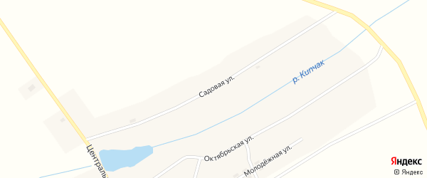 Садовая улица на карте поселка Пути Октября с номерами домов