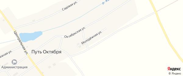 Молодежная улица на карте поселка Пути Октября с номерами домов