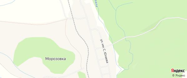 Карта деревни Морозовки в Башкортостане с улицами и номерами домов