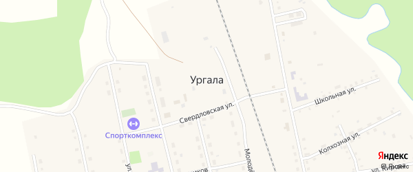 Улица им С.Юлаева на карте села Ургалы с номерами домов