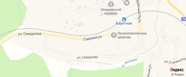Садовая улица на карте села Медведевки с номерами домов