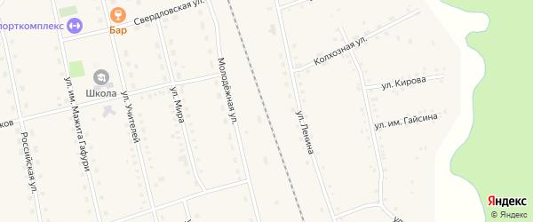 Улица В.Тиунова на карте села Ургалы с номерами домов
