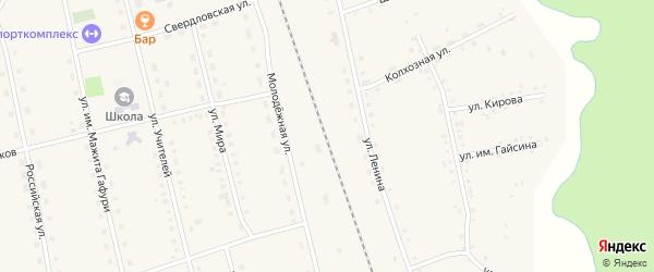 Улица Учителей на карте села Ургалы с номерами домов