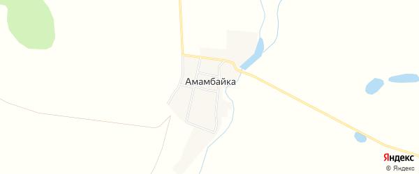 Карта поселка Амамбайки в Челябинской области с улицами и номерами домов