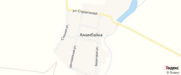 Улица Строителей на карте поселка Амамбайки с номерами домов