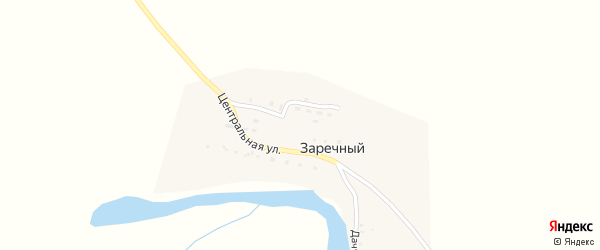 Дачная улица на карте Заречного поселка с номерами домов
