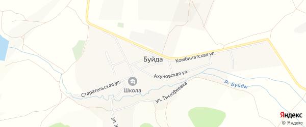 Карта села Буйды в Башкортостане с улицами и номерами домов
