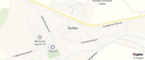 Комбинатский переулок на карте села Буйды с номерами домов