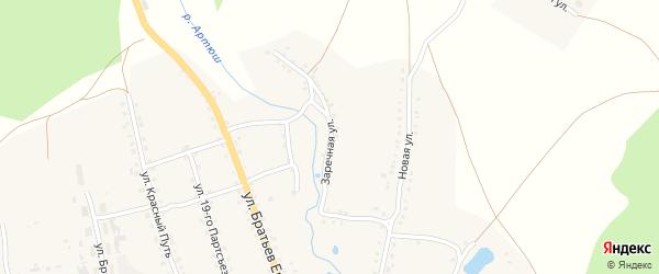 Заречная улица на карте села Медведевки с номерами домов