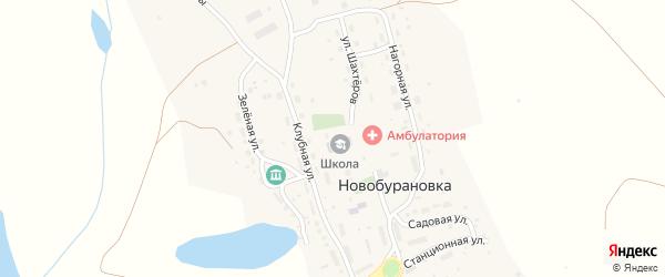 Улица Шахтеров на карте села Новобурановки с номерами домов