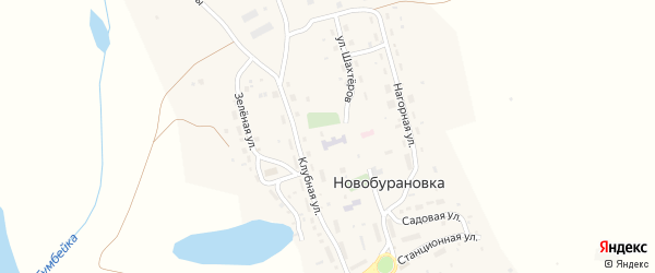 Набережная улица на карте села Новобурановки с номерами домов