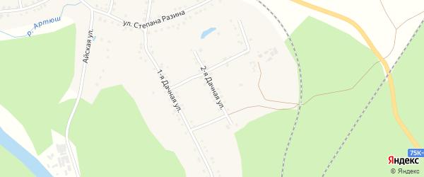 Дачная 2-я улица на карте села Медведевки с номерами домов