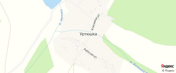 Рабочая улица на карте поселка Уртюшки с номерами домов