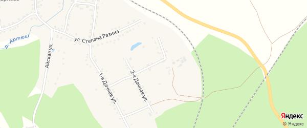 Дачная 3-я улица на карте села Медведевки с номерами домов