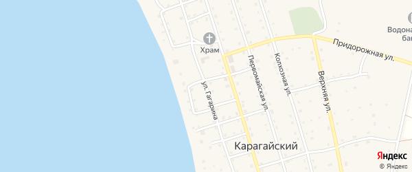 Улица Гагарина на карте Карагайского поселка с номерами домов