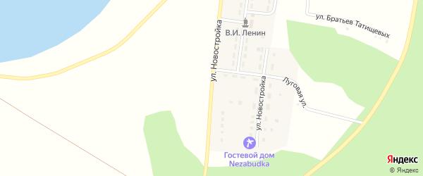 Улица Новостройка на карте Карагайского поселка с номерами домов