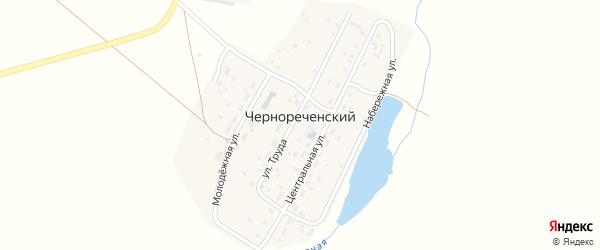 Набережная улица на карте Чернореченского поселка с номерами домов