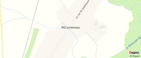Полевая улица на карте деревни Абсалямово с номерами домов