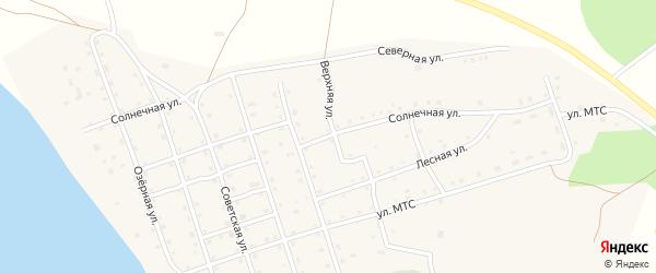 Солнечная улица на карте Карагайского поселка с номерами домов