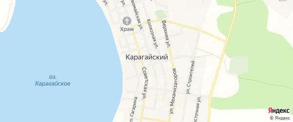 Карта Карагайского поселка в Челябинской области с улицами и номерами домов