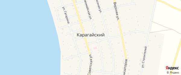 Спортивная улица на карте Карагайского поселка с номерами домов