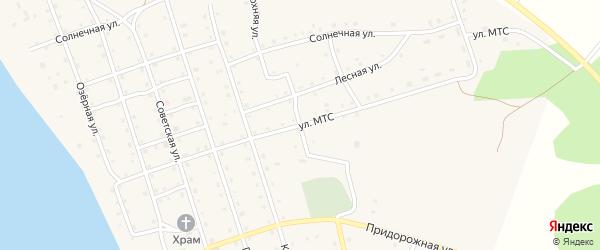 Улица МТС на карте Карагайского поселка с номерами домов