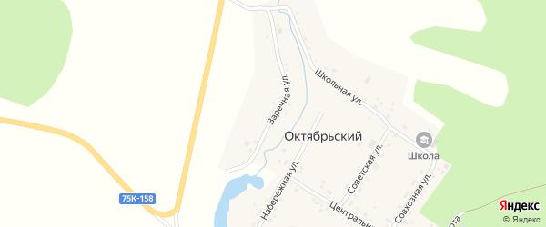 Заречная улица на карте Октябрьского поселка с номерами домов