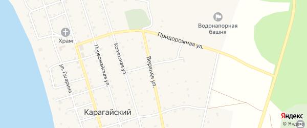Верхняя улица на карте Карагайского поселка с номерами домов