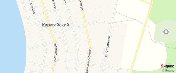 Улица Механизаторов на карте Карагайского поселка с номерами домов