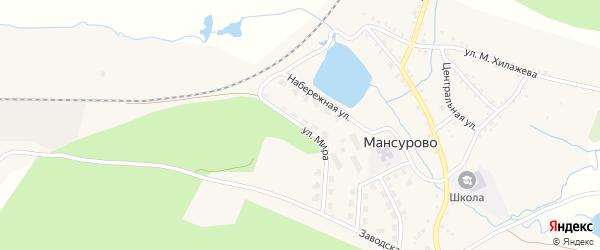 Улица Мира на карте деревни Мансурово с номерами домов