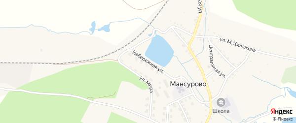 Набережная улица на карте деревни Мансурово с номерами домов