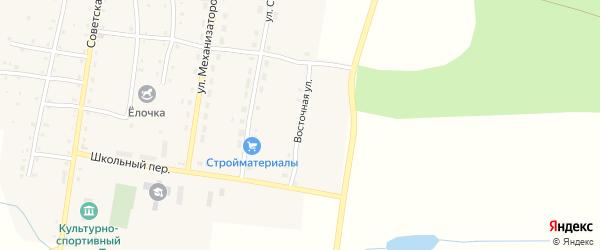 Восточная улица на карте Карагайского поселка с номерами домов