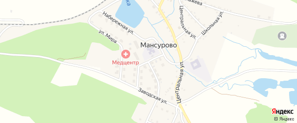 Улица Строителей на карте деревни Мансурово с номерами домов