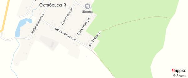Улица 8 Марта на карте Октябрьского поселка с номерами домов