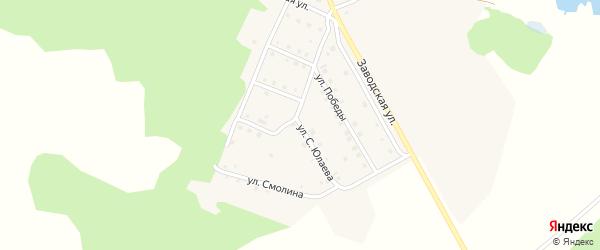 Улица С.Юлаева на карте деревни Мансурово с номерами домов