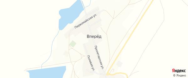 Карта поселка Впереда в Челябинской области с улицами и номерами домов
