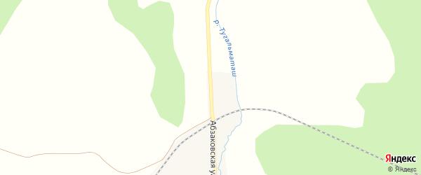 Абзаковская улица на карте деревни Мансурово с номерами домов