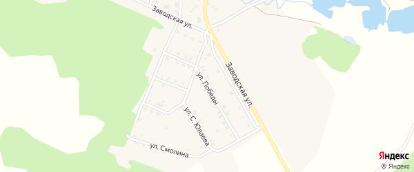 Улица Победы на карте деревни Мансурово с номерами домов