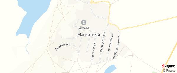 Карта Магнитного поселка в Челябинской области с улицами и номерами домов