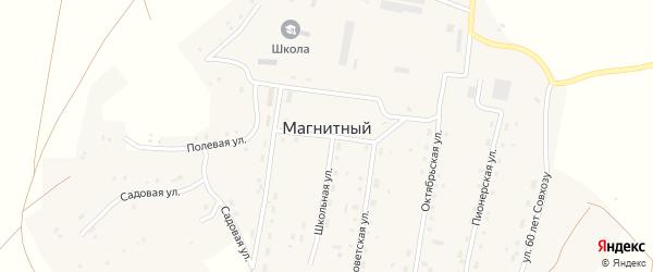 Школьная улица на карте Магнитного поселка с номерами домов