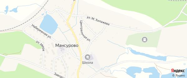 Школьная улица на карте деревни Мансурово с номерами домов