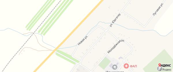 Новая улица на карте села Ильчино с номерами домов