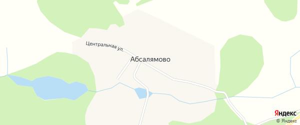 Молодежная улица на карте деревни Абсалямово с номерами домов