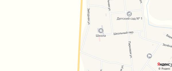 Звездная улица на карте Зингейского поселка с номерами домов